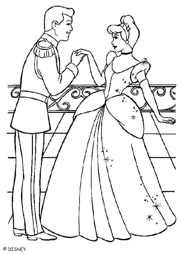 Cinderella And Prince Charming Drawing at GetDrawingscom Free for