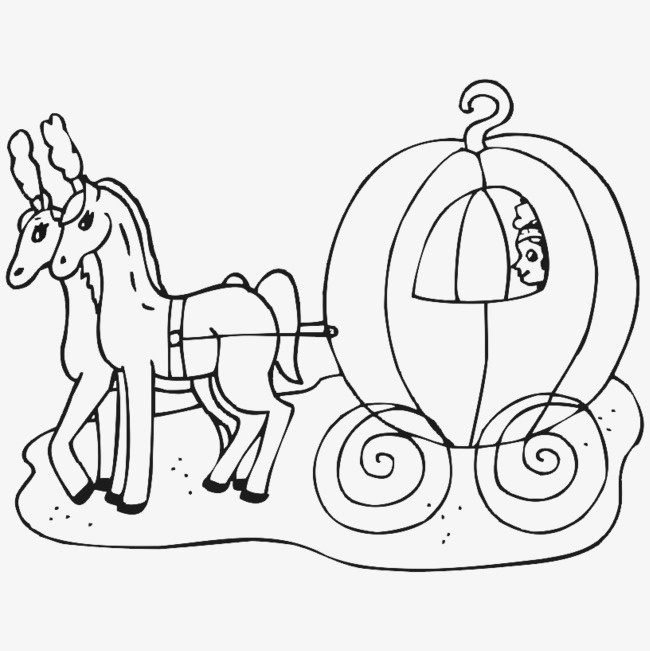 Cinderella Carriage Drawing