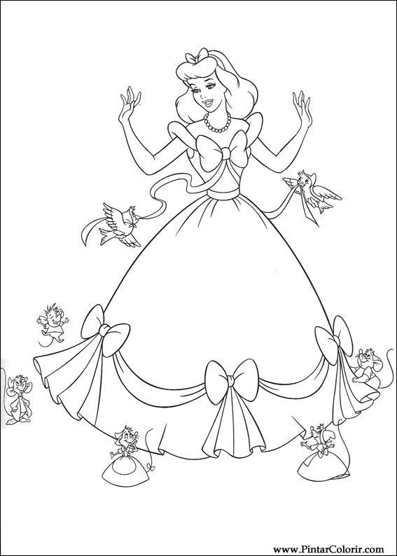 567x794 Drawings To Paint Amp Colour Cinderella