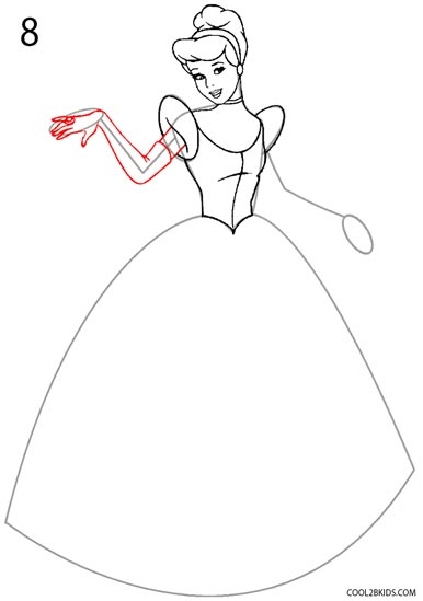 386x549 How To Draw Cinderella (Step By Step Pictures) Cool2bkids