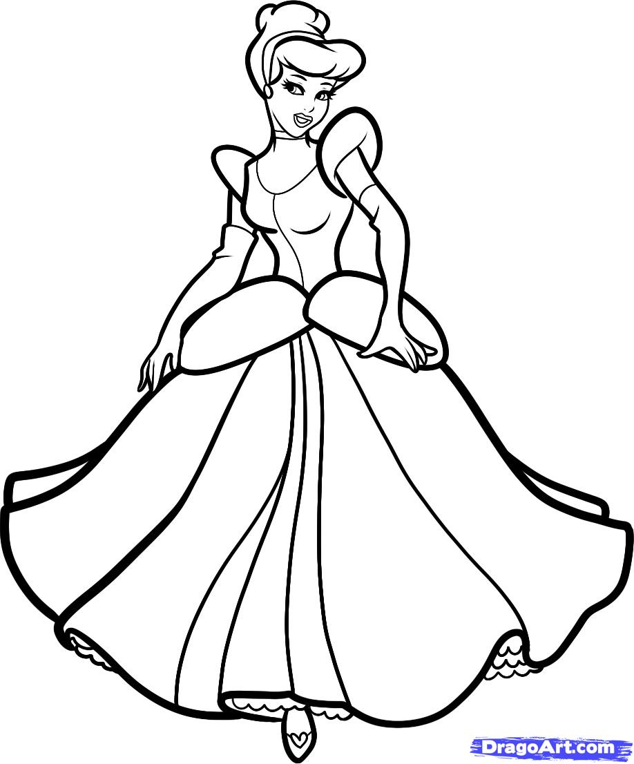 918x1106 How To Draw Cinderella Step 8 How To Draw Disney
