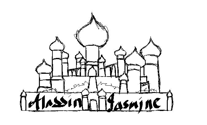 675x410 Aladdin Castle Drawing Aladdin Palace Drawing