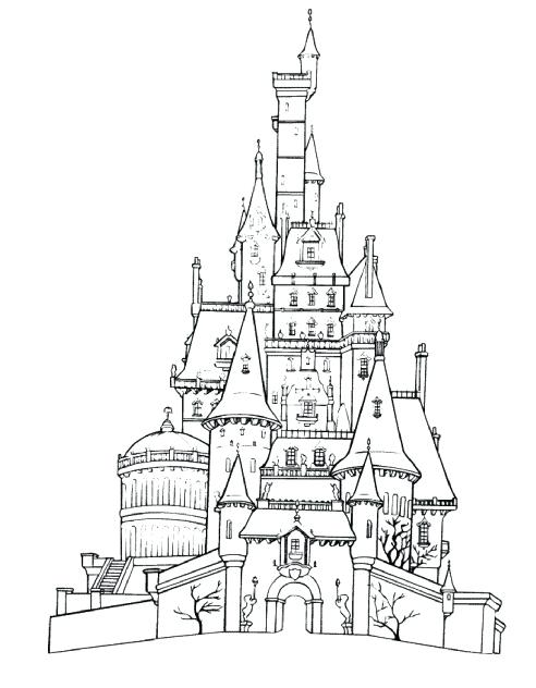 492x632 Cinderella Castle Coloring Pages World Castle Coloring Pages