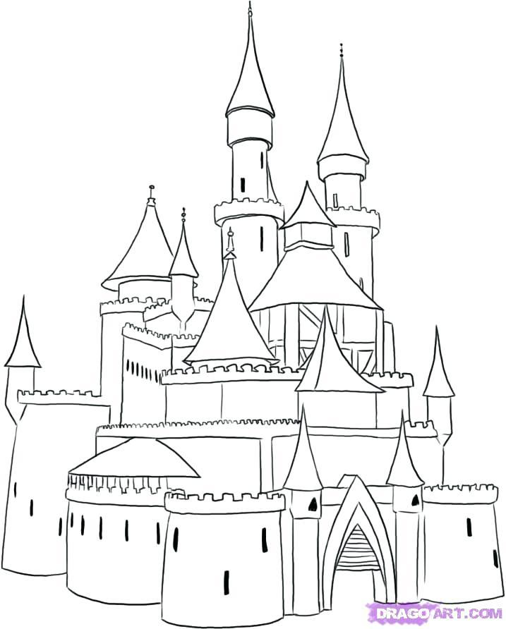 717x892 Cinderella Castle Colouring Pages Coloring Page For Kids