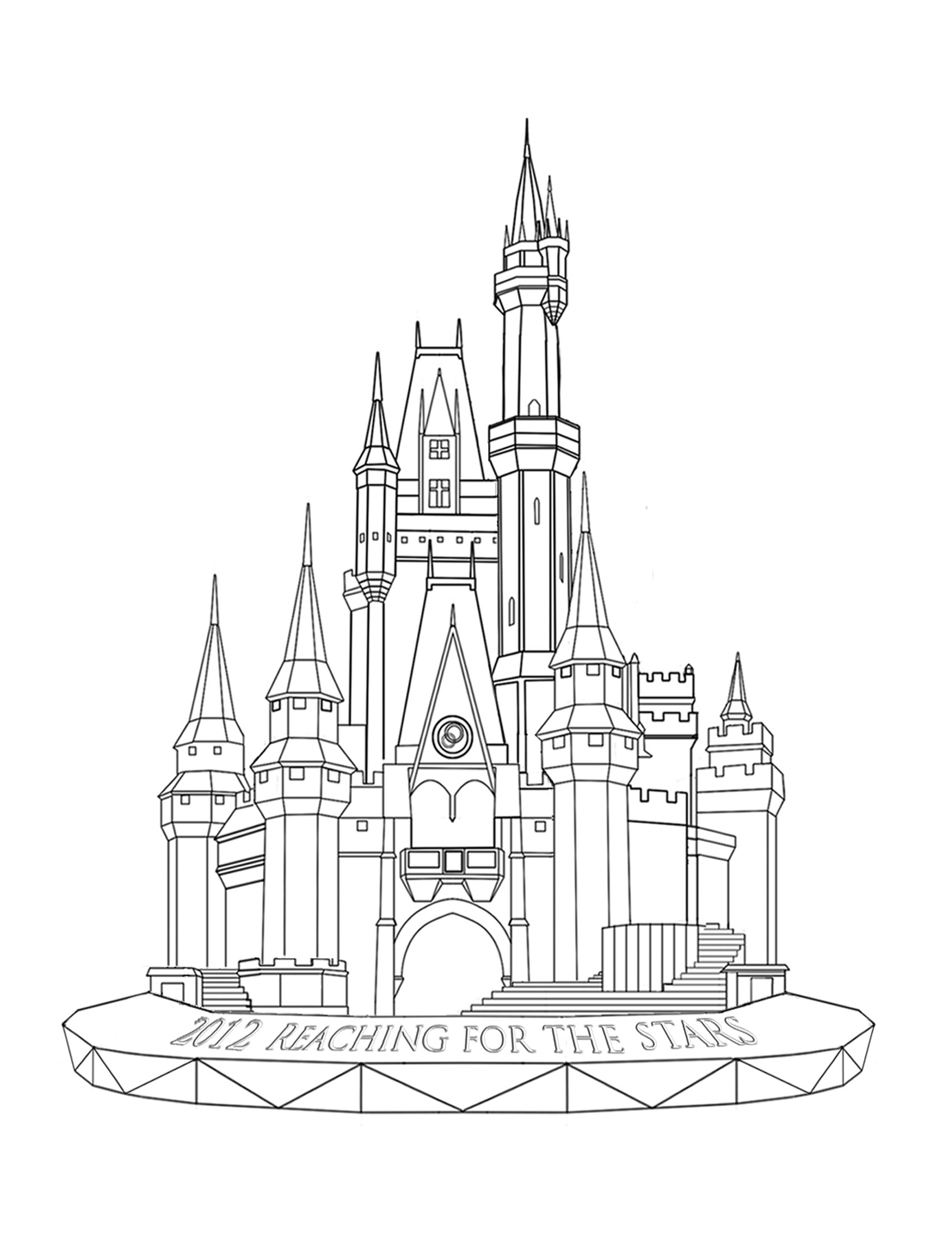 1700x2200 Disney Castle Color Pages Free Coloring Page For Kids