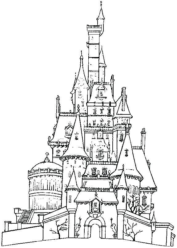 575x804 Disney Castle Coloring Page Castle Castles Coloring Pages