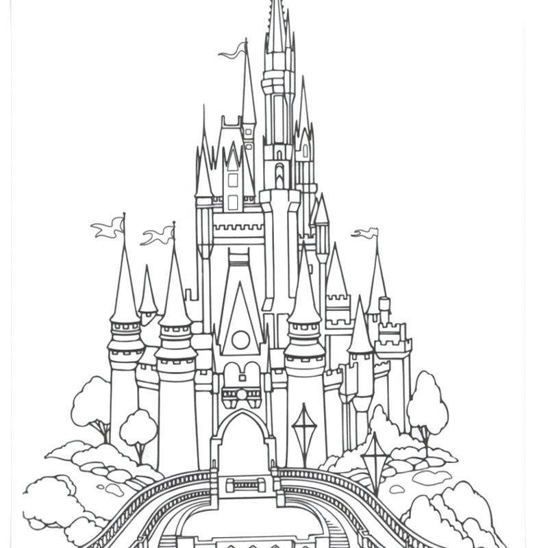 781x800 Disney Castle Coloring Page Princess Castle Coloring Pages Free