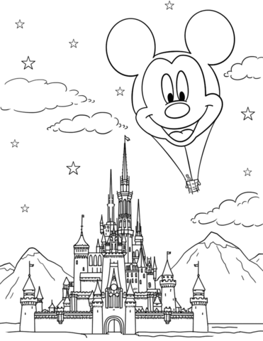 Cinderella castle drawing at free for for Disney castle coloring pages