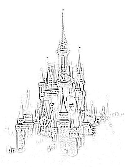 400x533 Disney Cinderella Castle Sketch