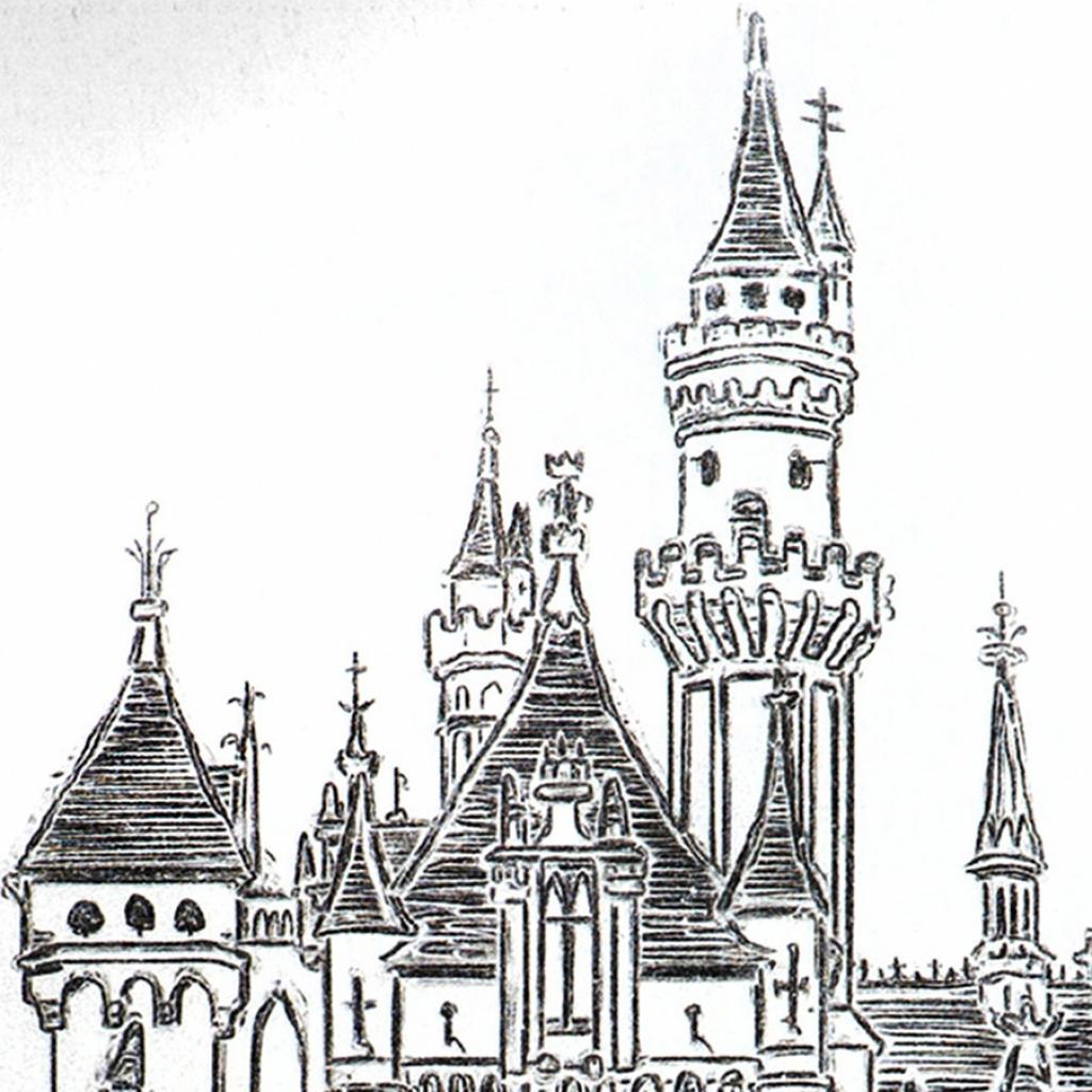 1024x1024 Disney World Castle Drawing Disney Cinderella Castle Drawing Nice
