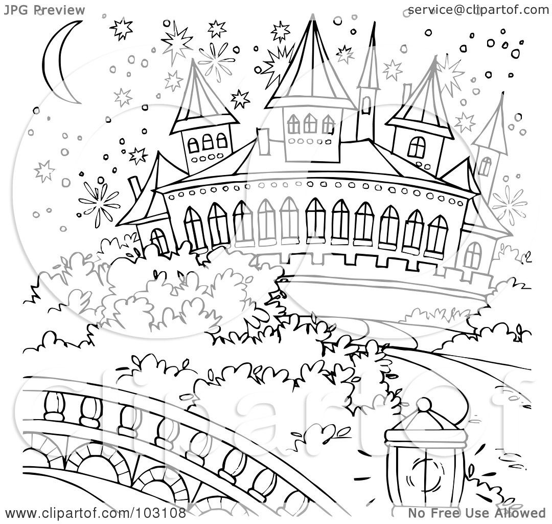 1080x1024 Royalty Free (Rf) Clipart Illustration Of A Coloring Page Outline