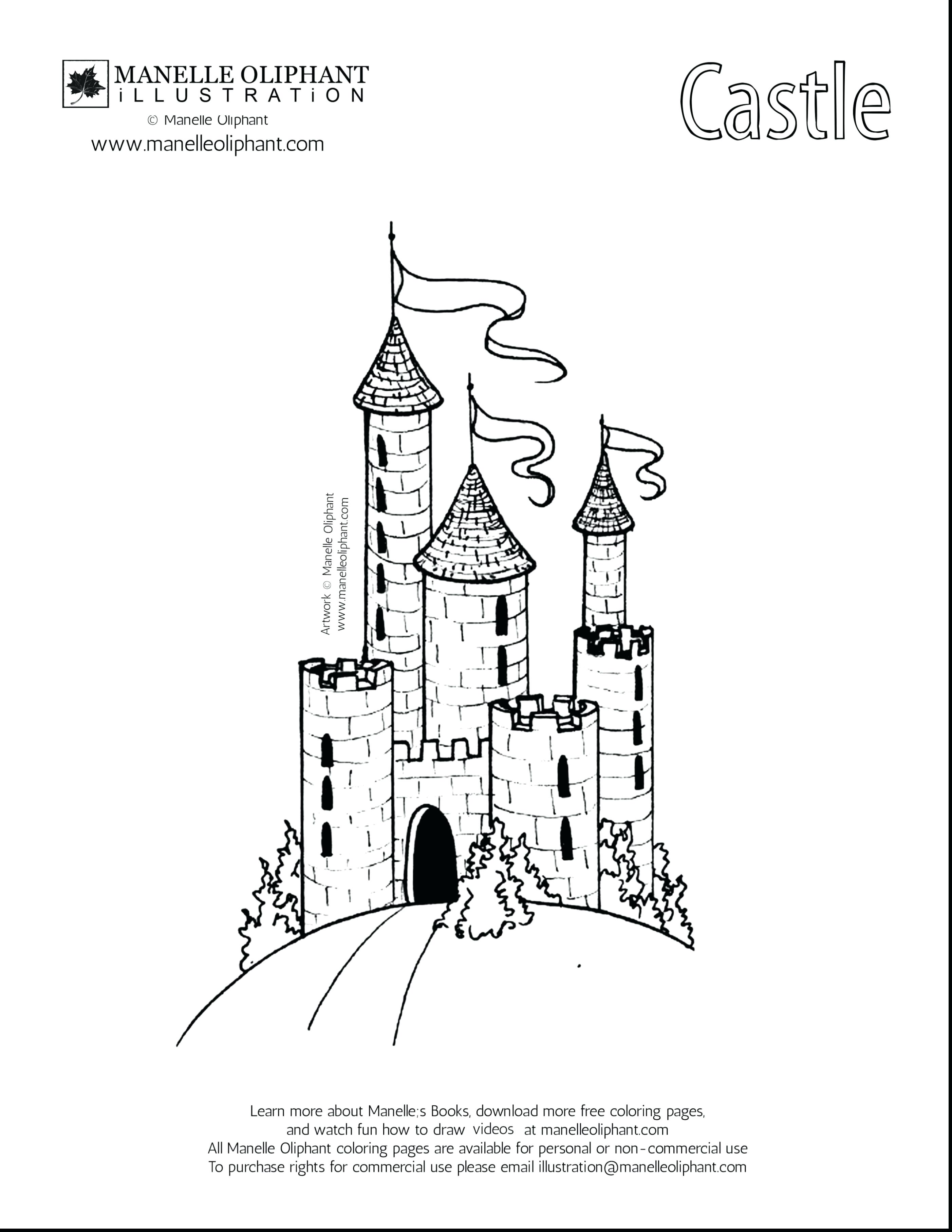 2805x3630 Coloring Cinderella Castle Coloring Page Pages A Disney Sheet