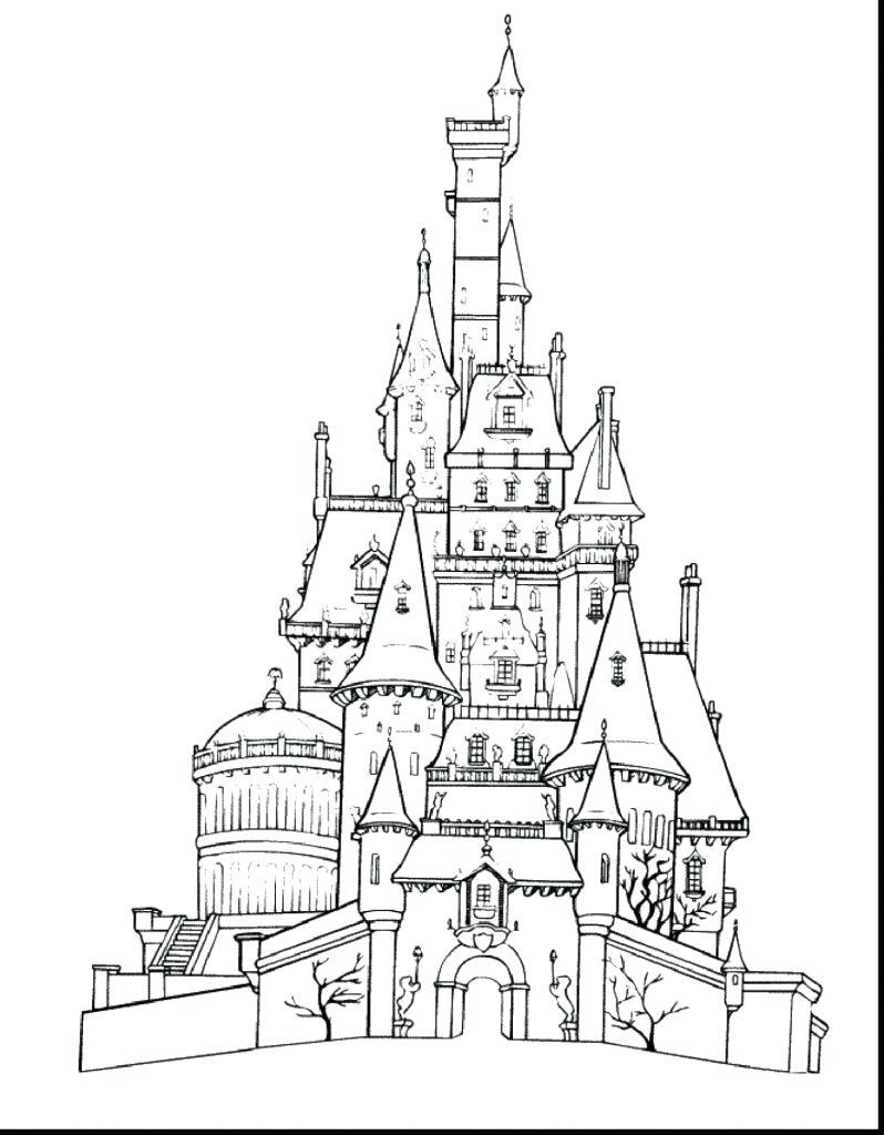 798x1024 Coloring Disney Castle Coloring Page