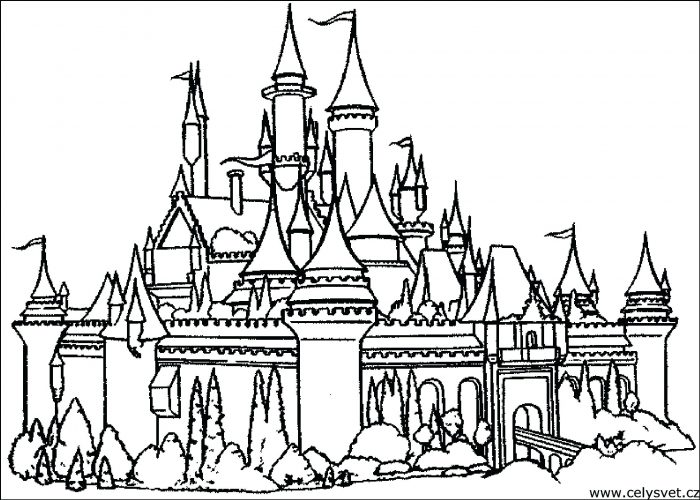 700x500 Coloring Pages ~ Castle Coloring Page Beautiful Flower Garden