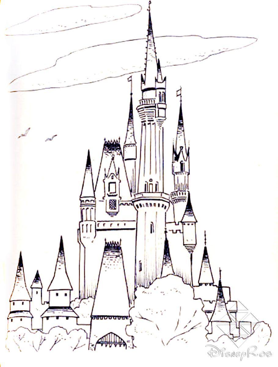 910x1200 Frozen Cinderella Castle Free Printable Castle Coloring Pages