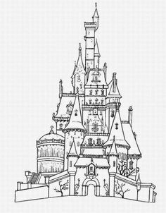 236x302 Castle Coloring Pages, Cartoon Disney Palace Drawing Just Free