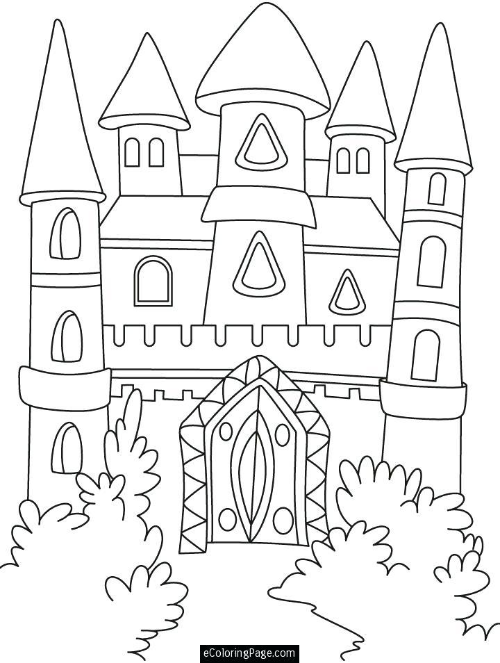 720x954 Cinderella Castle Coloring Pages Castle Coloring Pages Disney