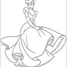 220x220 Cinderella Is Dancing With The Prince Coloring Pages