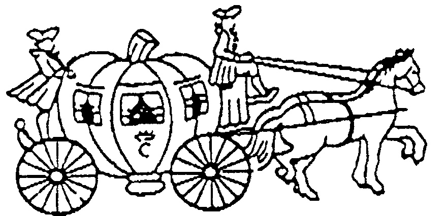 880x426 Horse Drawn Cinderella Carriage Coloring Pages Fairy Tale Carriage