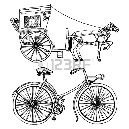 450x450 Horse Drawn Carriage Or Coach And Bicycle, Bike Or Velocipede