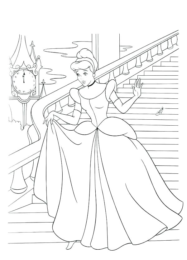 600x832 Minimalist Cinderella Coloring Pages Fee Color Sheet Flees