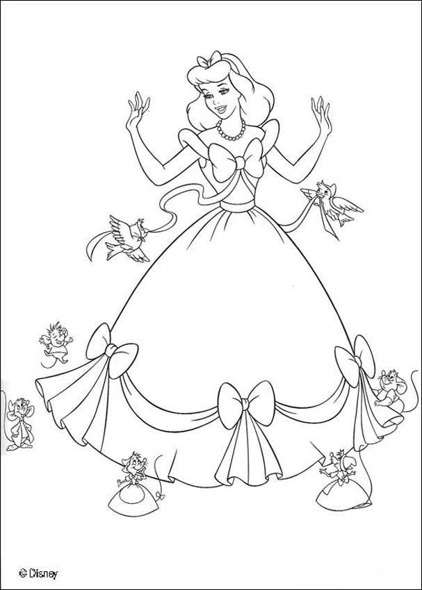 607x850 Cinderalla Coloring Pages