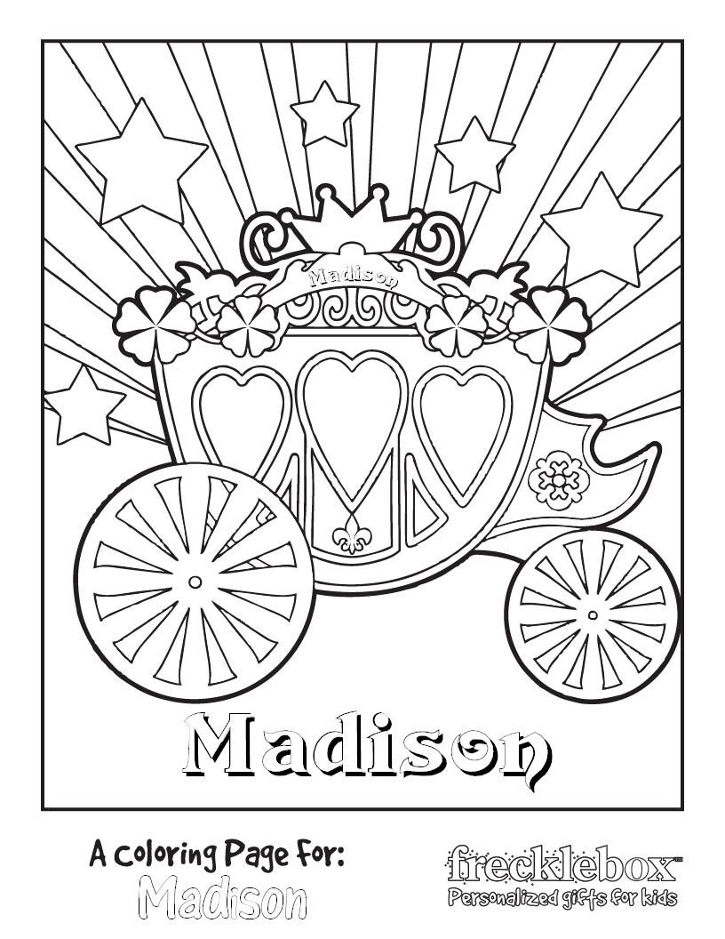 816x1056 Cinderella Carriage Color Page Princess Carriage Coloring Page