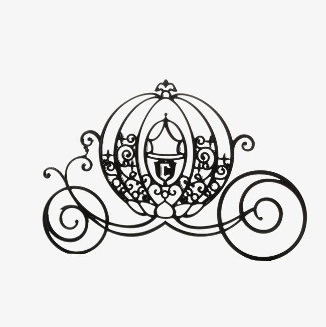 650x651 Black Cartoon Pumpkin Carriage, The Pumpkin Carriage, Cinderella