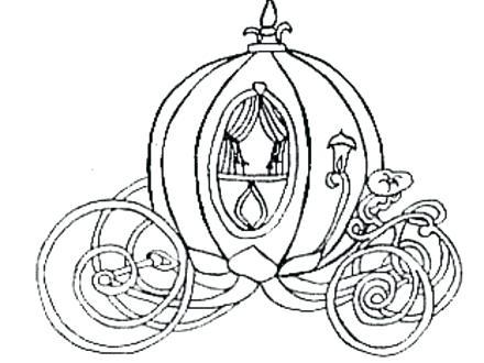 cinderellas pumpkin carriage coloring pages - photo#8