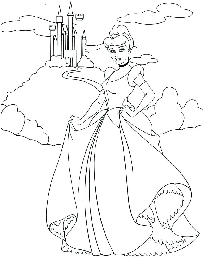 687x874 Cinderella Coloring Pages Coloring Pages Coloring Pages Coloring