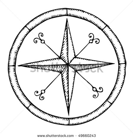 450x470 Compass Drawing
