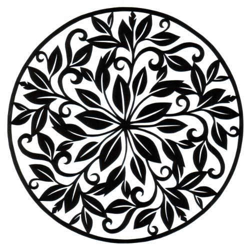 500x494 Curly Leaf Circle Permalink Page Stencilletta Papercutting Blog