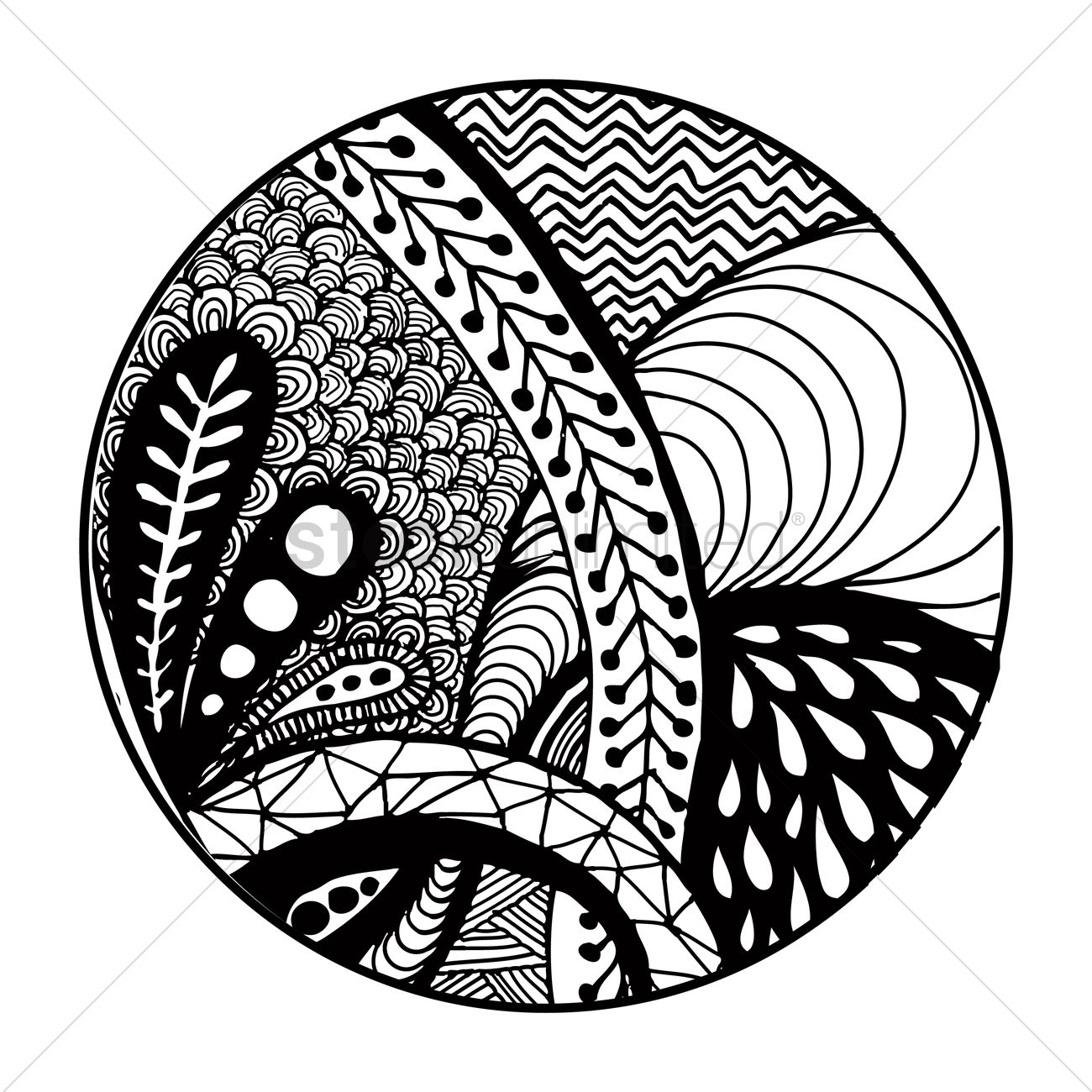 1300x1300 Decorative Pattern Design Vector Image