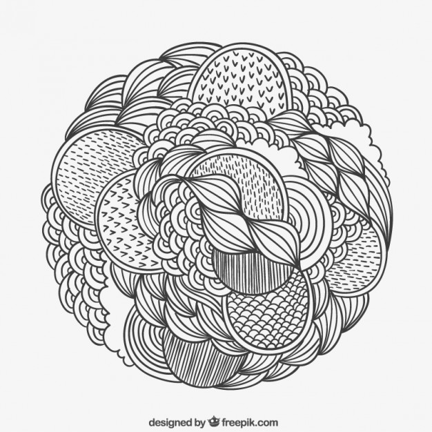 626x626 Hand Drawn Patterned Circle Vector Free Download