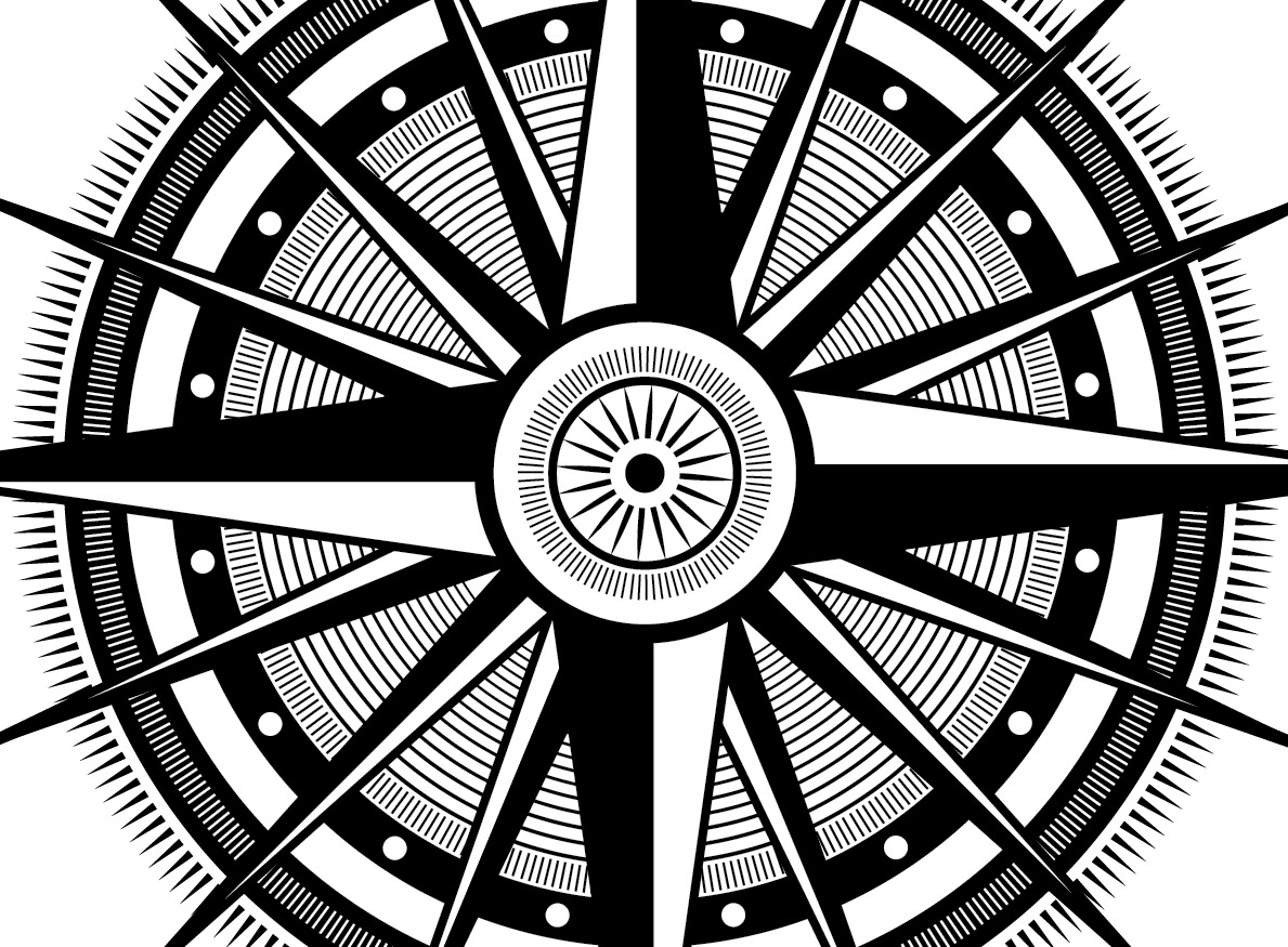 1189x875 How To Create An Ornate Compass Rose In Illustrator