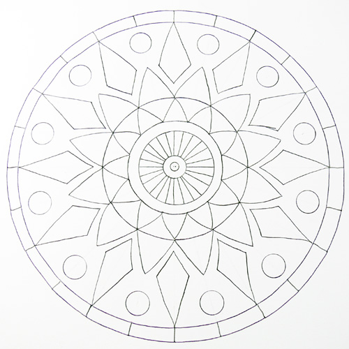 500x500 How To Draw A Mandala Using Grids