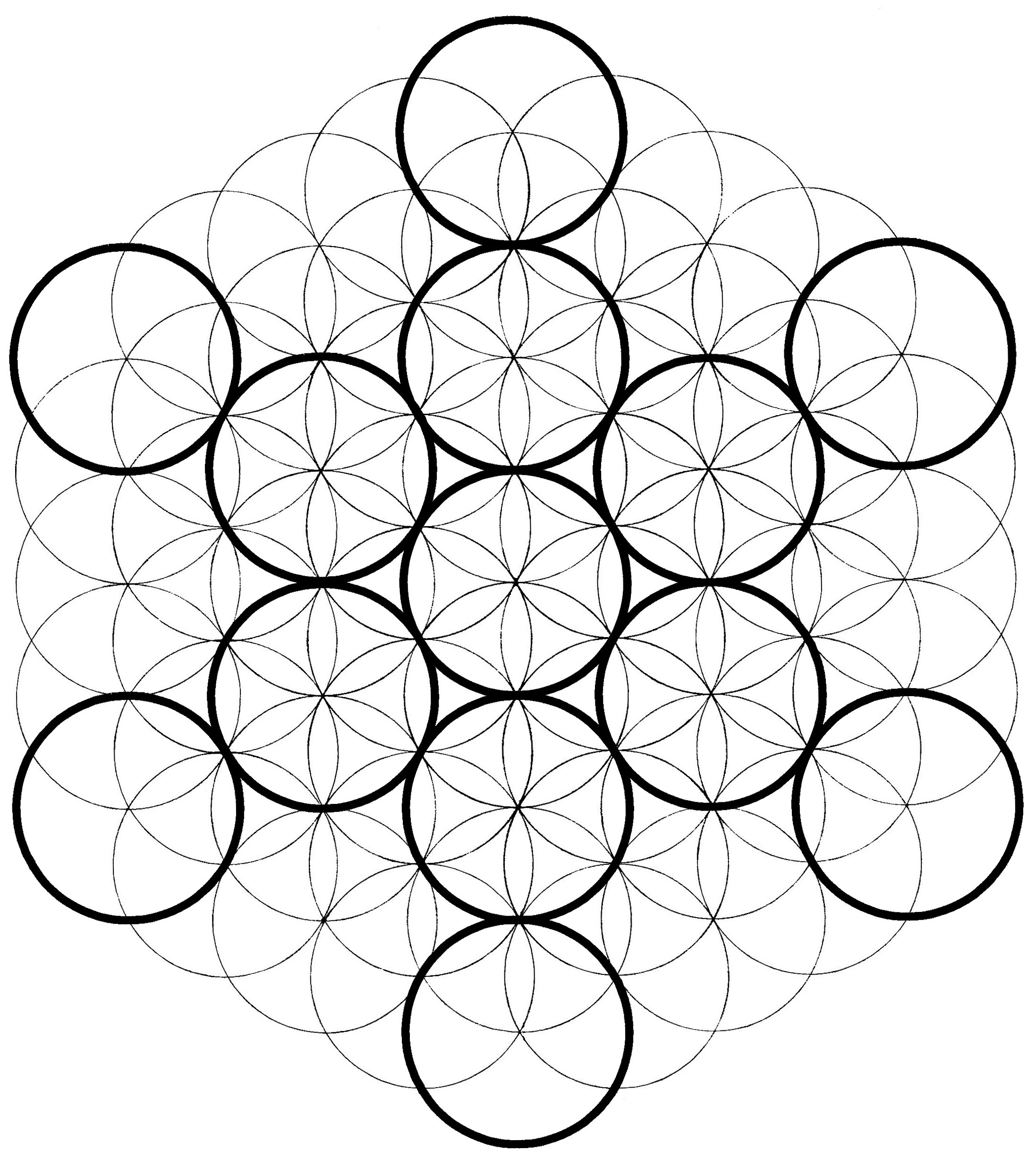 2194x2454 Metatron's Cube How To Draw Chemical Marriage
