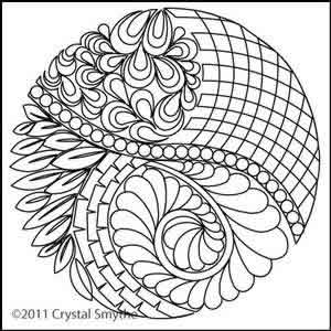 300x300 Zendoodle Circle Crystal Smythe Digitized Quilting Designs