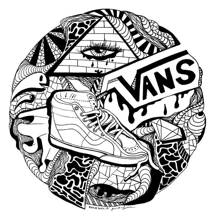 900x900 Circle Vans Drawing By Kenal Louis