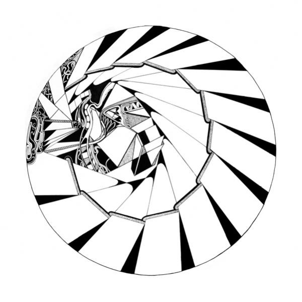 600x599 Robert Preston, Circle Drawings 1978