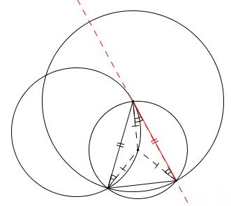 331x296 Tangent To Circle In Three Steps
