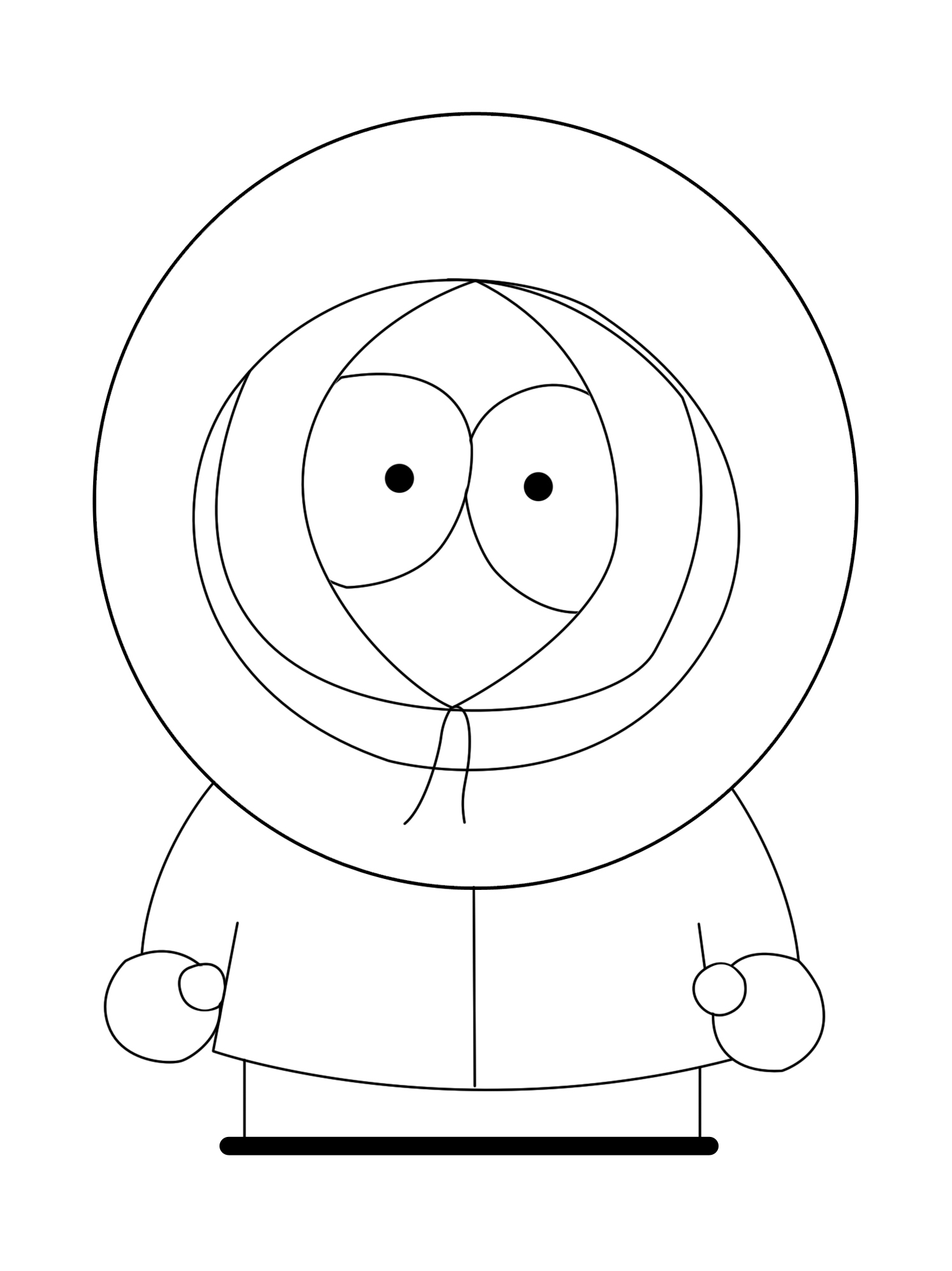 1492x1991 How To Draw Kenny From South Park (With Pictures)