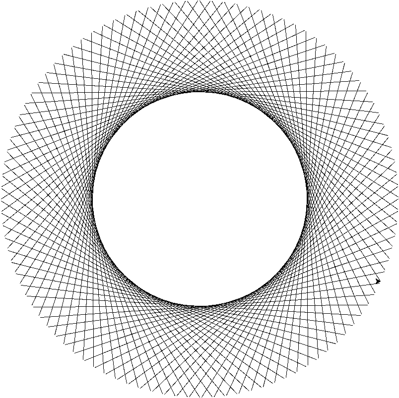 804x803 A Fake Circle Made Of Straight Lines