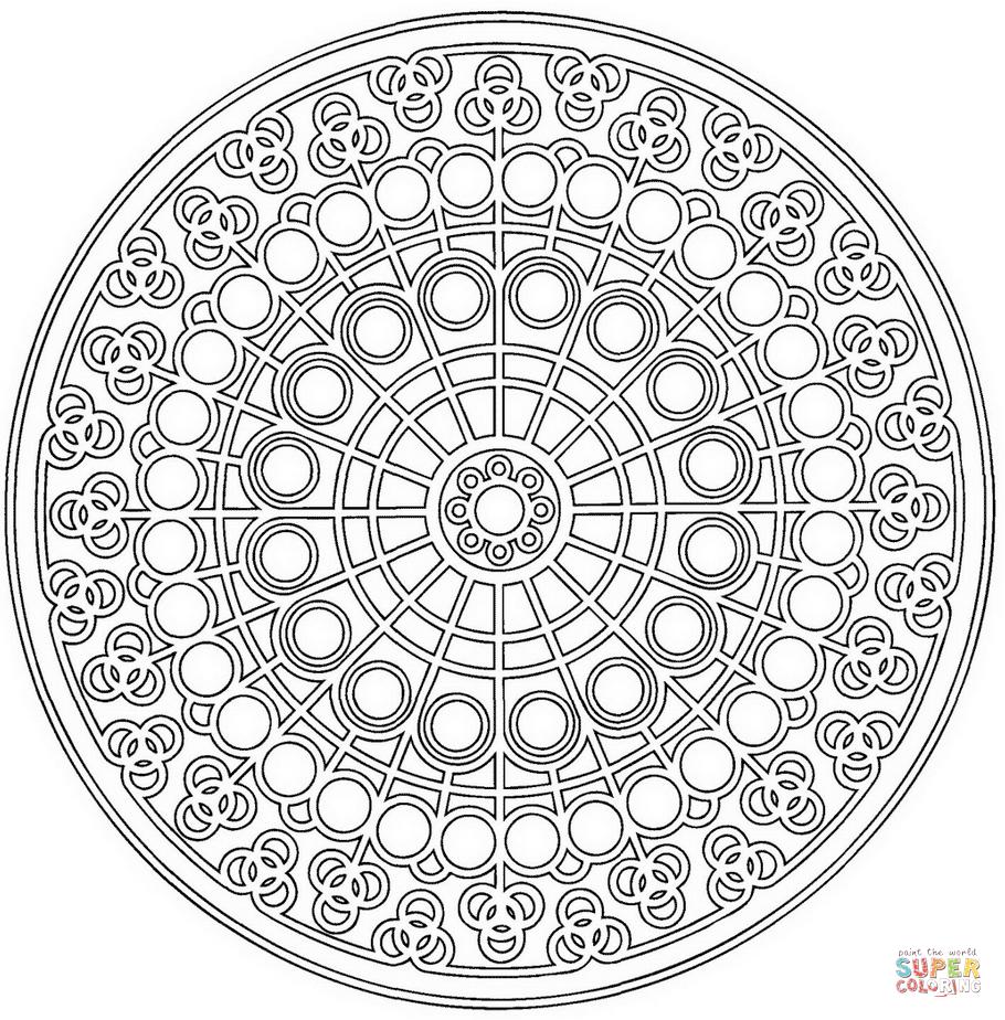 910x924 Celtic Mandala With Circle Pattern Coloring Page Free Printable