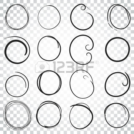 450x450 Hand Drawn Circles Icon Set. Collection Of Pencil Sketch Symbols