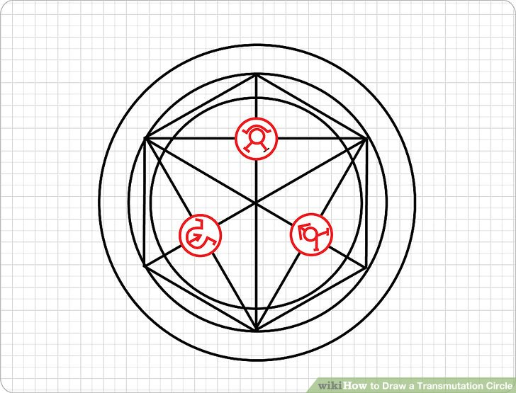 728x555 How To Draw A Transmutation Circle 7 Steps (With Pictures)