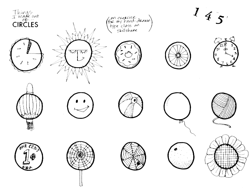 797x601 365 Illustrated Blog Posts No. 145 Things I Made Out Of Circles
