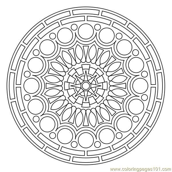 600x600 Small Circles Coloring Page