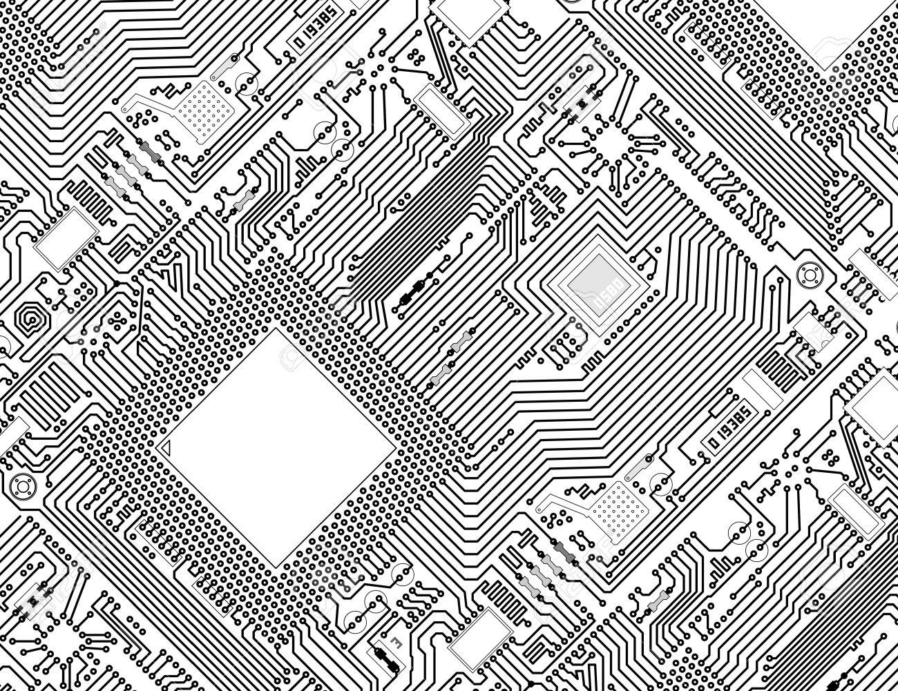 Circuit Board Drawing At Getdrawings Com