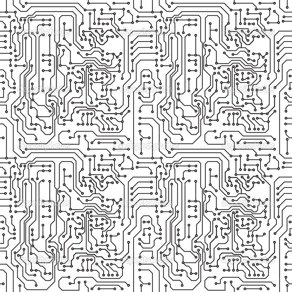Circuit Board Drawing At Free For Personal Use Designer 1024x1024 Seamless Pattern Computers Icons Vector